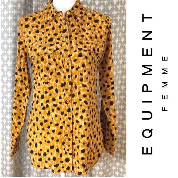 48d4bb25668e Equipment Tops | Femme Essential Silk Shirt Button Up | Poshmark